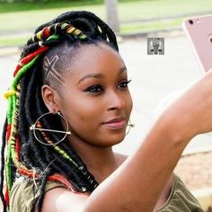 Ladies with natural hair will love these inspiring faux locs ideas! Stunning fake locs types, stylish colors, and creative hairstyles are waiting for you! Faux Locs Hairstyles, Shaved Side Hairstyles, Stylish Hairstyles, Braids With Shaved Sides, Curly Hair Styles, Natural Hair Styles, Shaved Hair Designs, Faux Locks, Pelo Natural