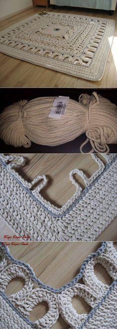 Palace sewing, rugs, mats...♥ Deniz ♥: [] # # #Crochet #Rugs, # #Palaces, # #Sewing, # #Crocheting, # #Hooks, # #Carpets, # #Knitting, # #I #Trapillo, # #Beauty