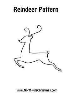 Reindeer Pattern, great for crafts