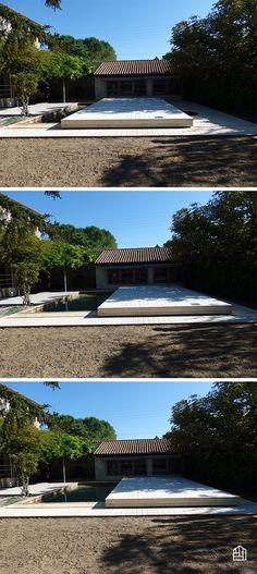 Terrasse amovible Accoya® de 90m² pour cette maison en Drôme - terrasse bois avec bassin