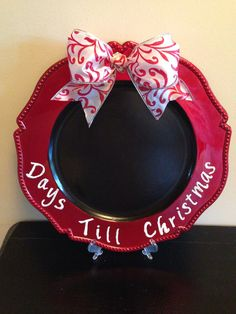 DIY chalkboard Christmas countdown charger