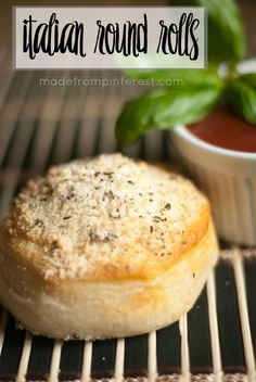 The parmesan topping turns these refrigerator biscuits into a fancy roll! Italian Round Rolls.