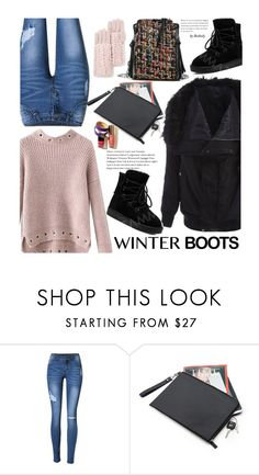 """Casual"" by beebeely-look ❤ liked on Polyvore featuring Rebecca Minkoff, casual, sammydress, winterboots, winterstyle and wintersweater"