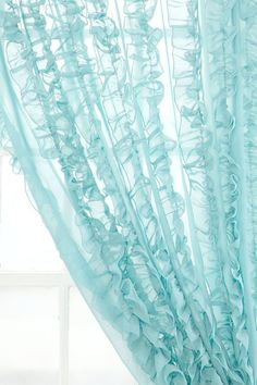 Aqua window sheers