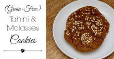 Tahini Molasses Cookies (Grain-Free) - And Here We Are / muscovado sugar / Muskovado Zucker / Mauritius