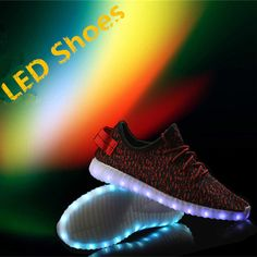 8a09af1c8d116 MaiDun Men yeezy LED Shoes New Fashion light colorful Flashing Sneaker for  Men Party and Dancing