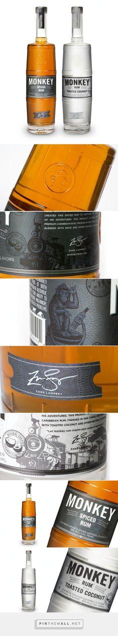 Monkey #rum #packaging designed by Identica Design - http://www.packagingoftheworld.com/2015/05/monkey.html