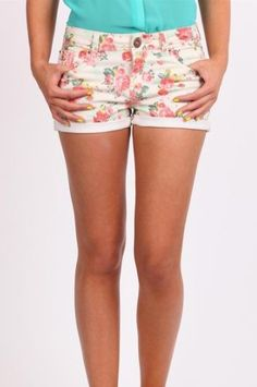 Carissa Printed shorts in white floral, AU$29.95 from Cotton On, Australia. Also comes in black floral.
