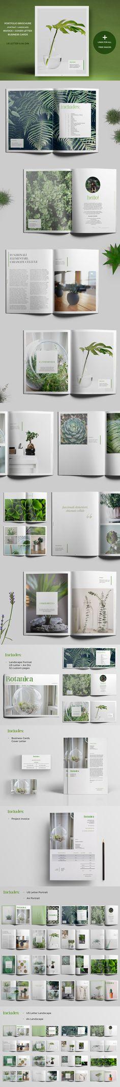 Botanica - Portfolio / Photobook / Brochure Template InDesign INDD