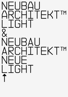 NB Architekt™ Light & Neue Light Std Edition (2002/16) on Behance