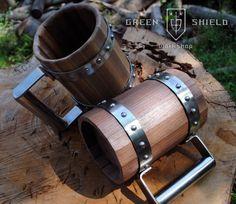 Wooden Beer Mug/ Tankard by GreenShieldWorkshop on Etsy