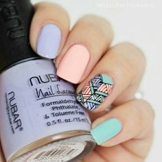 Love This Beautiful & Unique Cute Nail Art Designs. Check Our List For More Nail Art Ideas ♥ Perfect Nails, Gorgeous Nails, Love Nails, How To Do Nails, Fun Nails, Pretty Nails, Fall Nail Art Designs, Cute Nail Designs, Pretty Designs