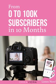 From 0 to 100k Subscribers in 10 Months. Listen to this episode of The YouTube Power Hour Podcast with Erika Vieira. #YouTubeChannel #GrowOnYouTube #ErikaVieira Youtube Without Ads, Get Youtube Subscribers, Video Channel, Great Videos, You Youtube, Social Media Tips, Erika, Content Marketing, Media Marketing