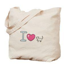 I Love Cat Tote Bag on CafePress.com