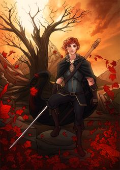 """Kvothe by Eddy-Swan. """"I have stolen princesses back from sleeping barrow kings. I burned down the town of Trebon. I have spent the night with Felurian and left with both my sanity and my life. I was expelled from the University at a younger age than most people are allowed in. I tread paths by moonlight that others fear to speak of during day. I have talked to Gods, loved women, and written songs to make the minstrels weep. You may have heard of me."""""""