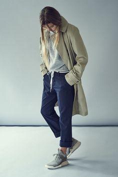 Sneakers femme - Adidas Tubular et trench beige