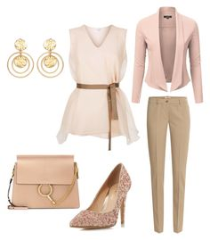 """Posh Pastels"" by alanna-ralls ❤ liked on Polyvore featuring Michael Kors, Brunello Cucinelli, Head Over Heels by Dune, Kenneth Jay Lane and Chloé"