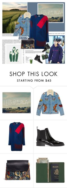 """""""Let´s run away!"""" by yuleici ❤ liked on Polyvore featuring Trademark Fine Art, Gucci, Kenzo, Burberry, Chloé and Royce Leather"""