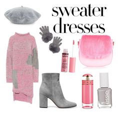 A fashion look from October 2017 featuring pink sweater dress, grey suede booties and pink crossbody. Browse and shop related looks. Pink Sweater Dress, 3.1 Phillip Lim, Suede Booties, Essie, Charlotte Russe, Prada, Fashion Looks, Polyvore, Sweaters