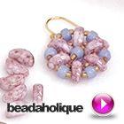 Tutorial - Videos: How to Bead Weave a Flower using Czech Glass 2-Hole Half Moon Beads | Beadaholique