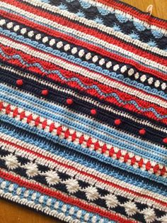 Crochet Along 2014 AS-WE-GO STRIPEY BLANKET ༺✿ƬⱤღ✿༻