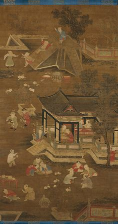 Unidentified Artist Chinese, active late 13th–15th century. Children Playing in the Palace Garden, late 13th–15th century. The Metropolitan Museum of Art, New York. Purchase, The Dillon Fund Gift, 1987 (1987.150) #spring