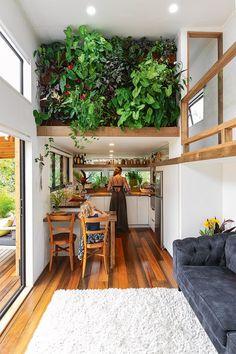 Tiny House Luxury, Tiny House Loft, Best Tiny House, Modern Tiny House, Tiny House Living, Tiny House Plans, Tiny House Design, Two Bedroom Tiny House, Tiny House Kitchens