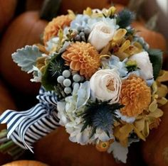 Highlight your fall wedding with a bold bridal bouquet bursting with seasonal colors. From rustic-inspired arrangements to more romantic mixes, a fall wedding bouquet is a must-have. Fall Bouquets, Fall Wedding Bouquets, Fall Wedding Flowers, Fall Wedding Colors, Fall Flowers, Orange Flowers, Colorful Roses, Flower Bouquets, Wedding Orange