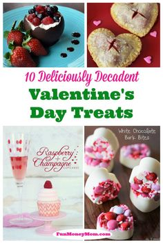 Looking for some amazing treats for Valentine's Day?  You can't go wrong with any of these decadent treats (but I'm definitely trying the chocolate bowl first)!!!