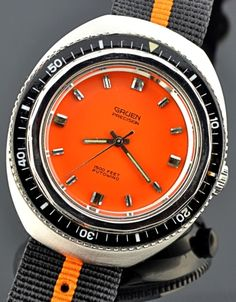 A 1970s Gruen Precision dive watch.  Very, very cool.  Love the nylon band, too.