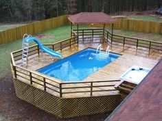 Pool secure fencings are best for personal privacy along with protection. Yet you can still take pleasure in developing your pool fence. Here are 27 Remarkable pool fence ideas! Swimming Pool Decks, Above Ground Swimming Pools, Swimming Pool Designs, In Ground Pools, Above Ground Pool Slide, Above Ground Pool Landscaping, Backyard Pool Landscaping, Backyard Ideas, Patio Ideas