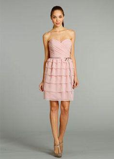 Cheap Chiffon Slim Knee Length Bridesmaid Dress with Tiered Skirt is on  Sale! Buy Chiffon Slim Knee Length Bridesmaid Dress with Tiered Skirt at ... 3e5a0613eebc