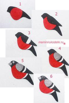 Bird Crafts, Felt Crafts, Diy And Crafts, Crafts For Kids, Arts And Crafts, Paper Crafts, Paper Birds, Felt Birds, Fabric Birds