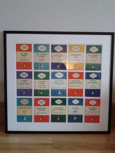 Home made frame made with Penguin book cover postcards