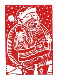 Retro Santa Card Now available on: http://www.lindacote.ca/product-page/1529931475