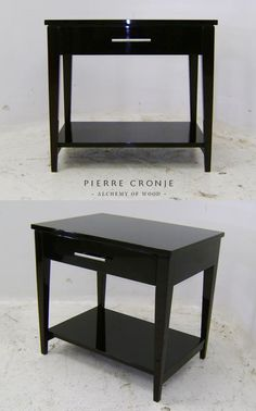 Pierre Cronje London Bedside Pedestals with a French Polish finish