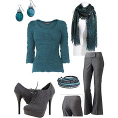Turquoise & Gray  polyvore mlb1104