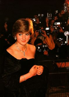Lady Diana Spencer's first official appearance as the fiancé of HRH Prince Charles in March 1981.