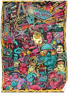 Fear and Loathing in Las Vegas Tribute Poster Artwork on Behance art illustration color Art Pop, Psychedelic Art, Films Cinema, Fear And Loathing, Kunst Poster, Alternative Movie Posters, Alternative Art, Dope Art, Canvas Prints