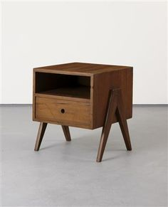 Pierre Jeanneret and Le Carbousier furniture chandigarh, side table