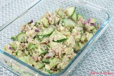 Jednoduchý salát z tuňáka a avokáda bez sacharidů doplněný křupavou čerstvou okurkou. Potato Salad, Potatoes, Meals, Ethnic Recipes, Diet, Meal, Potato, Yemek, Food