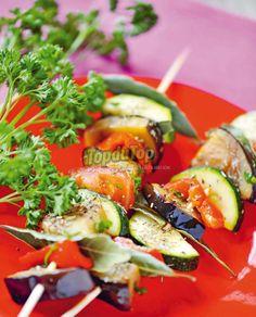 Brochette de légumes façon ratatouille