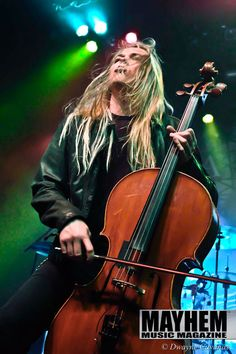 Eicca Toppinen of Apocalyptica at The Regency Ballroon in San Francisco, Ca. photography by Dwayne Cavanas for Mayhem Music Magazine