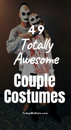 49 Best Halloween Couple Costumes From Cute To Straight-up Scary Scary Couples Costumes, Disney Couple Costumes, Homemade Halloween Costumes, Funny Couples, Creative Halloween Costumes, Halloween 2017, Couple Halloween Costumes, Halloween Ideas, Halloween Party