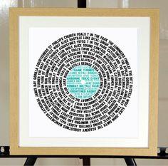 Persönlichen Datensatz (LP) Musik Word Art Geschenk