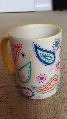 Paisley sharpie mug