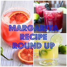 Margarita Recipe Round Up!  A great collection of delicious Margarita's perfect for Cinco de Mayo! #margarita #cocktaili