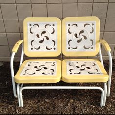 130 best old metal chairs images lawn furniture outdoor furniture rh pinterest com
