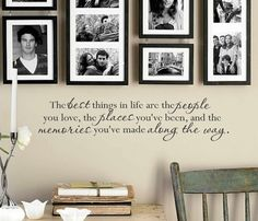 The best things in life wall decal - wall vinyls decals art - wall decor - vinyl wall art by VinylWallQuotes on Etsy https://www.etsy.com/listing/187688253/the-best-things-in-life-wall-decal-wall