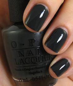 Really digging the gray on nails. Nagellack für dunkle Haut The Library - - Really digging the gray on nails. Nagellack für dunkle Haut The Library Opi Nail Polish, Opi Nails, Nail Polish Colors, Gel Nail, Cute Nails, Pretty Nails, Nail Envy, Dark Nails, Colorful Nail Designs